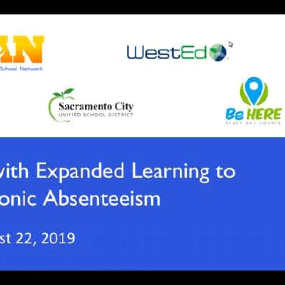 Webinar – Partnering with Expanded Learning to Reduce Chronic Absenteeism